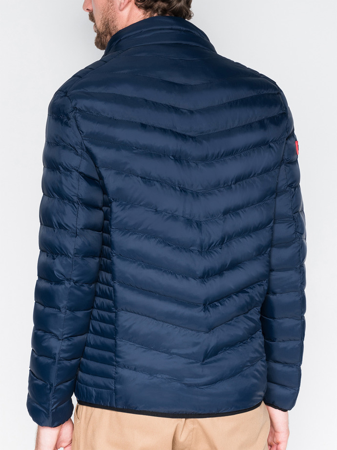 Men's mid-season quilted jacket C299 - navy