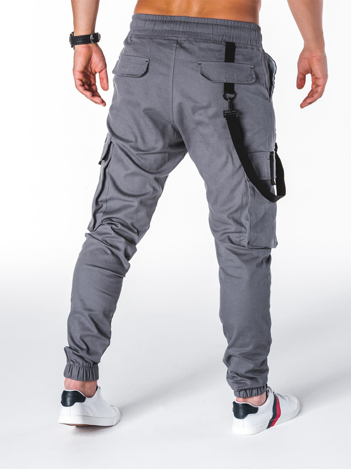 Men's pants joggers P716 - grey