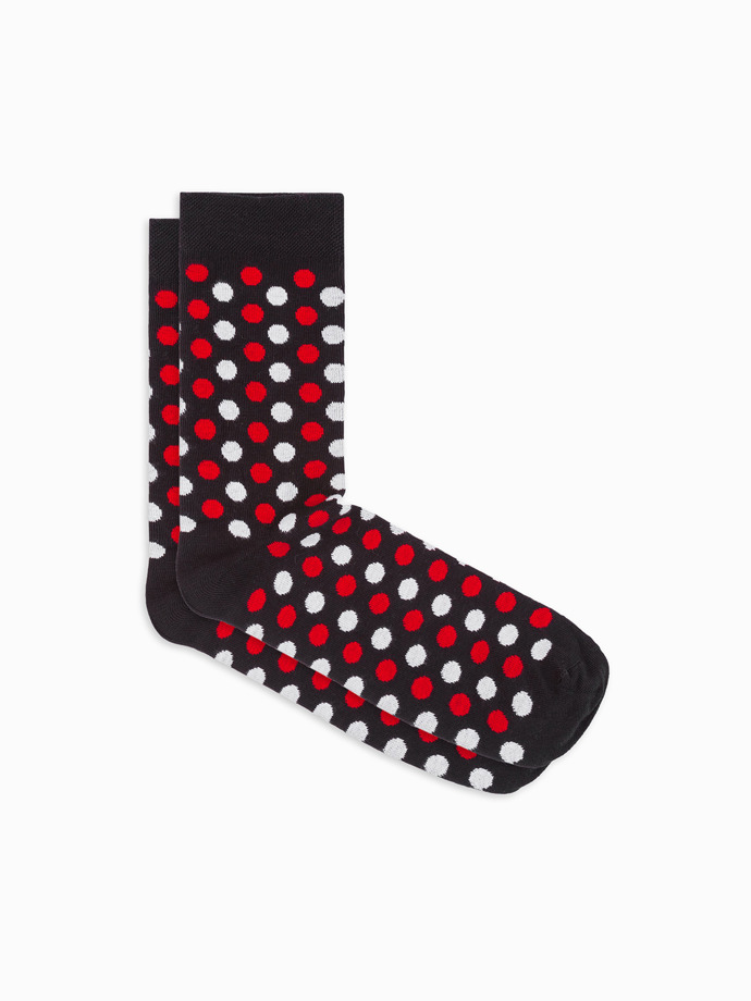 Men's patterned socks U21 - black