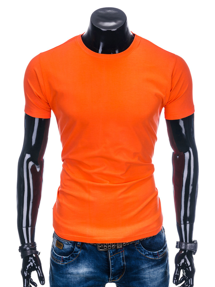 Men's plain t-shirt S884 - orange