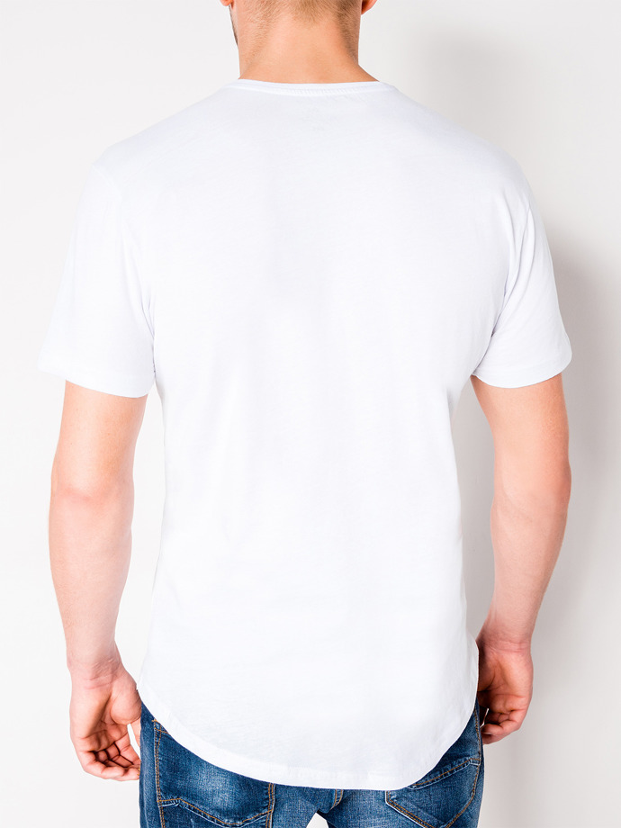 Men's printed t-shirt S929 - white
