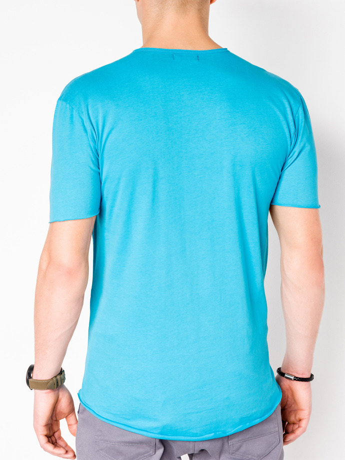 Men's printed t-shirt S983 - turquoise