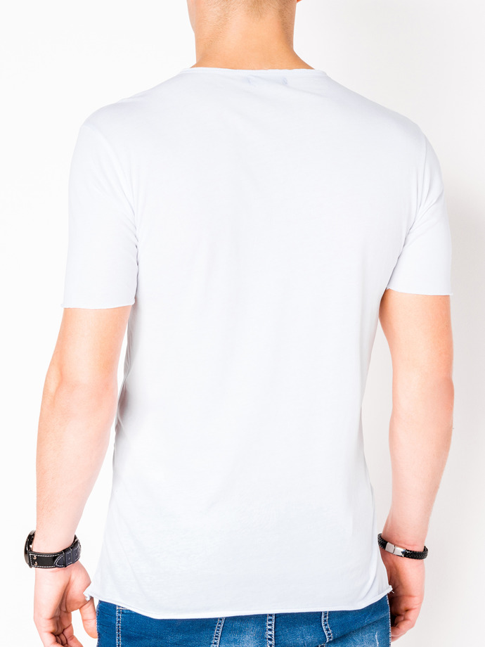 Men's printed t-shirt S985 - white