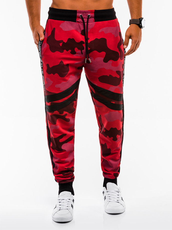 Men's sweatpants P665 - red