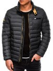 Men's mid-season quilted jacket C292 - grey