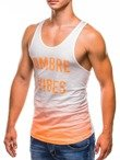 Men's printed tank top S821 - orange