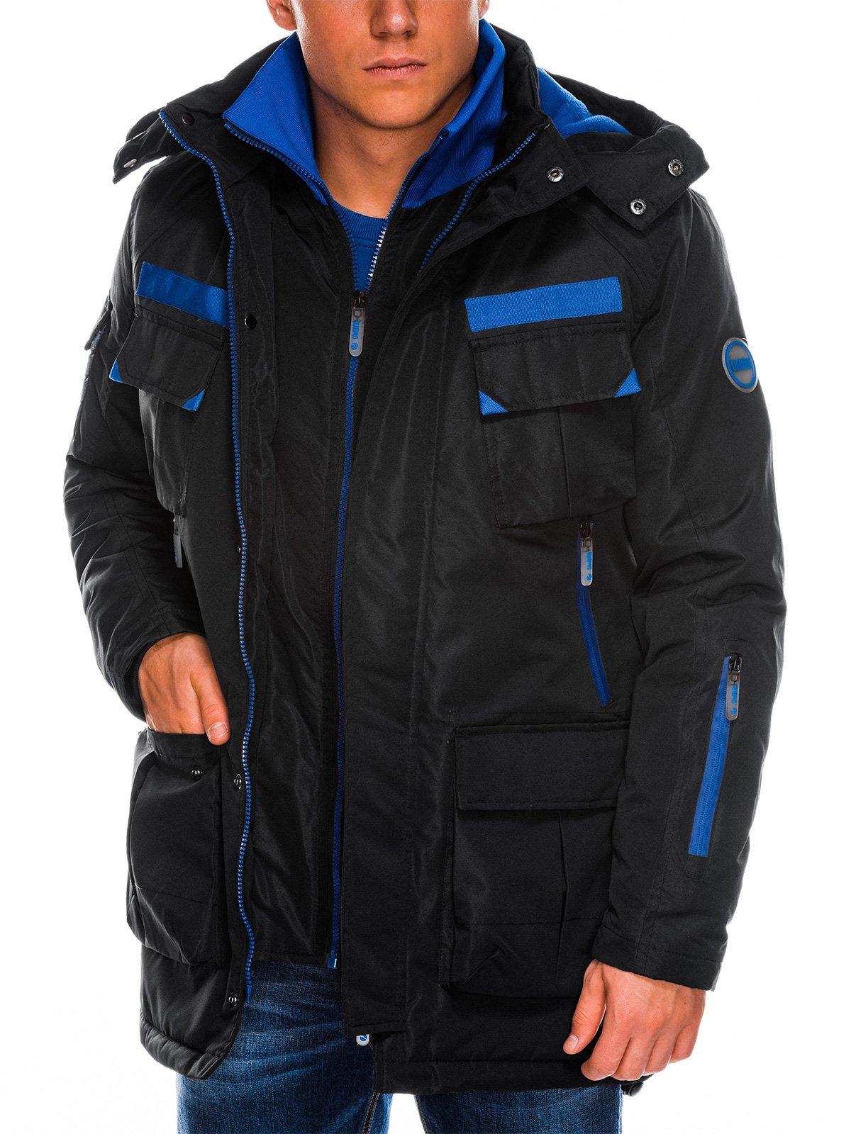 Levně Pánská zimní bunda C379 - černá