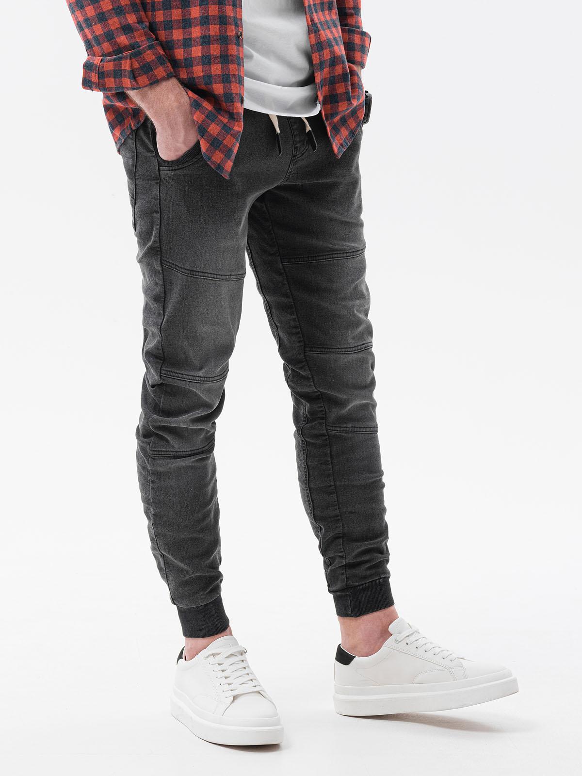Levně Pánské riflové jogger kalhoty P551 - černé