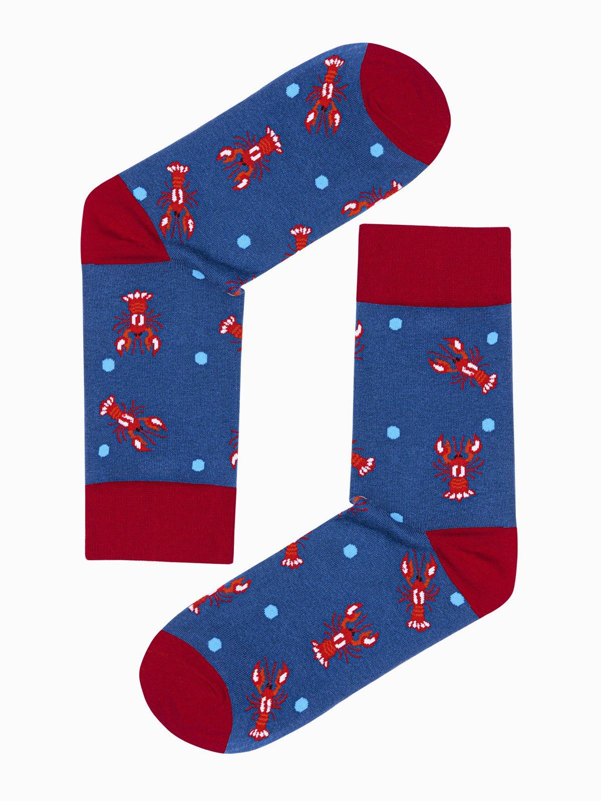 Levně Pánské ponožky U107 - světle námořnická modrá