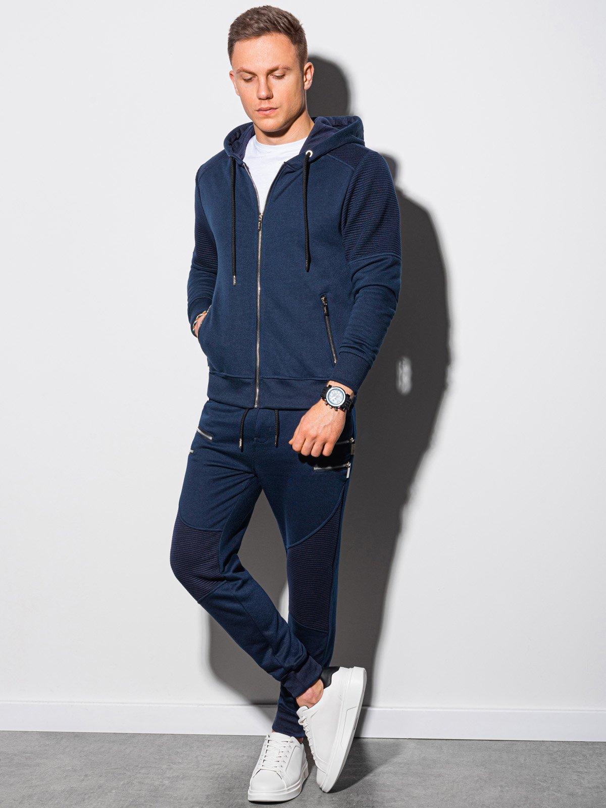 Levně Pánský set mikina + kalhoty Z23 - námořnická modrá