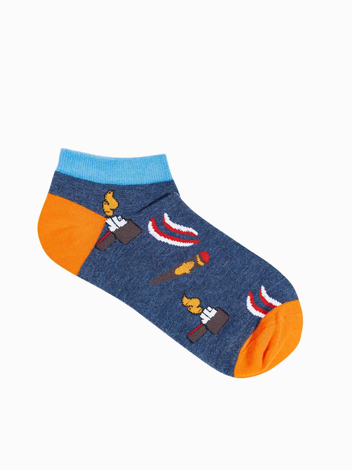 Levně Pánské ponožky U174 - námořnická modrá